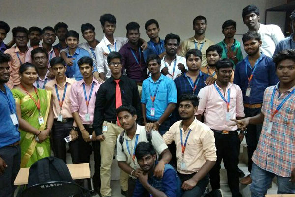 Dept of Computer Science Industrial Visit to Sansbound Networking School, on 14  Dec 2017
